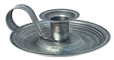 """Country House 5"""" Brushed Metal Taper Candle Holder"""