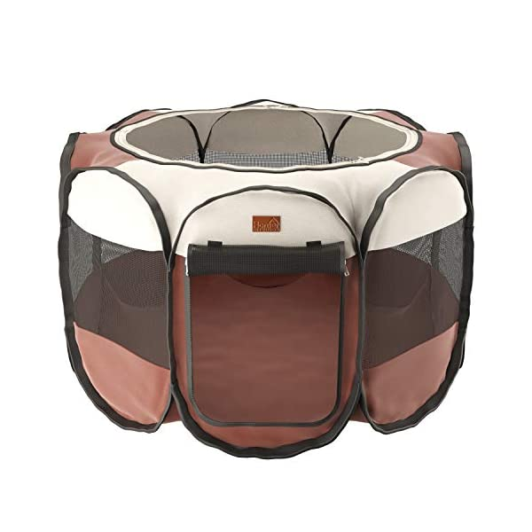 Home Intuition Portable Foldable Pet Playpen Exercise Kennel for Dogs and Cats with Removable Sun Shade, Small Click on image for further info. 2
