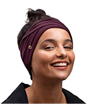 BLOM Original Headbands. Fashion Multi Style Design for Hair Styling as Well as Yoga, Workouts, and Running. Wear Wide Turban Knotted. Ethically Made in Bali.