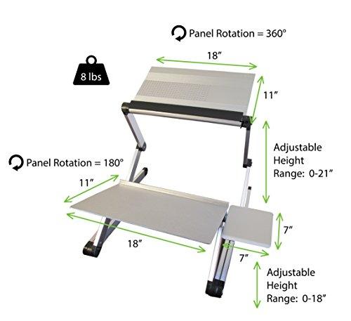 Workez Standing Desk Conversion Kit Adjustable Ergonomic Sit to