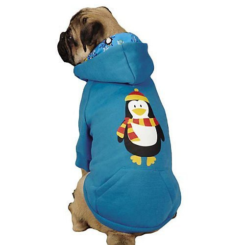 Casual Canine North Pole Pals Hoodie Penguin XXSMALL