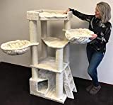 Cat Tree for large cats. Corner Cat XXL beige, 59 inch 105 lbs, 5 inch...