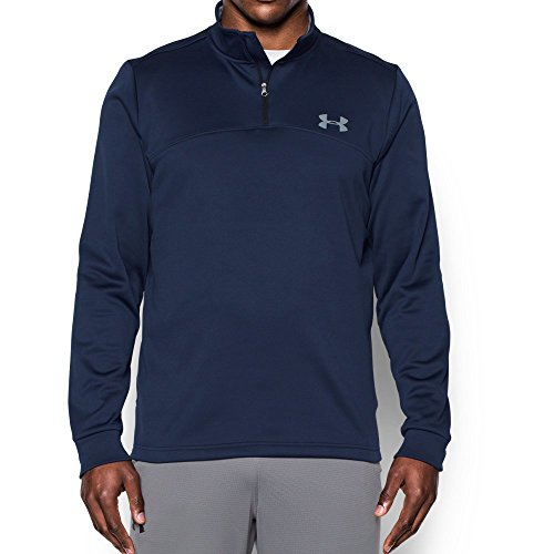 Under Armour Men's Storm Armour Fleece 1/4 Zip, Midnight Navy (410)/Steel, Small by Under Armour (Image #4)