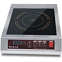 3500W Commercial Countertop Induction Cooktop Burner, Stainless Steel