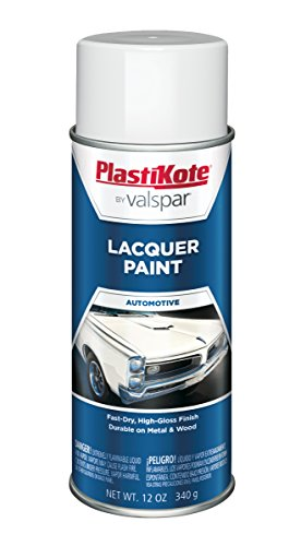 PlastiKote T-33 Gloss White Lacquer Paint - 12 Oz. by PlastiKote