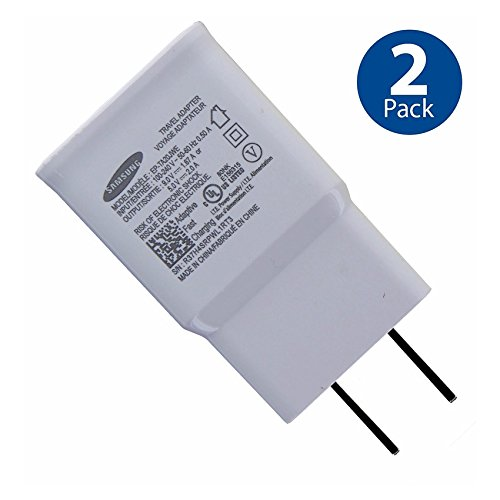 Original Samsung Adaptive Fast Charging Wall Adapter for Galaxy S5 S6 S7 EDGE NOTE 4 NOTE 5 (2 PACK) by Samsung (Image #2)