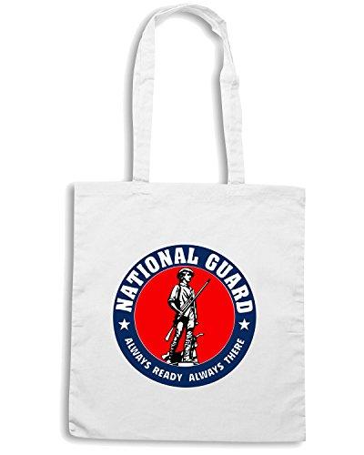 T-Shirtshock - Bolsa para la compra TM0431 National Guard Logo Blanco