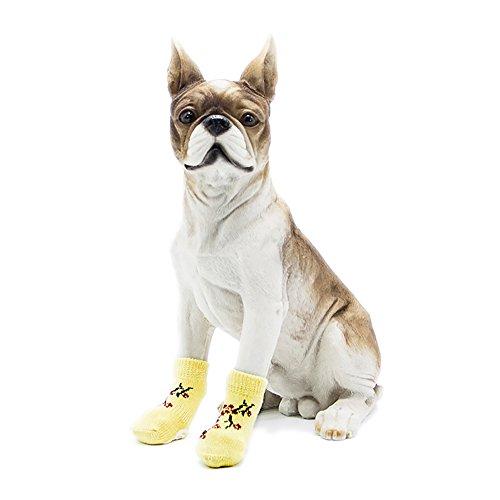 Fiore Cani color Antiscivolo Giallo Antiscivolo Scarpe M Yellow Calza Size Calzatura Cotone Per Yellow BU4nIWqAR