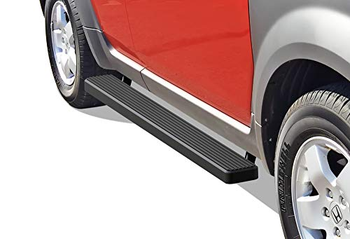 (APS iBoard Running Boards (Nerf Bars | Side Steps | Step Bars) for 2003-2011 Honda Element Sport Utility 4-Door (Excl. SC) | (Black Powder Coated 5)