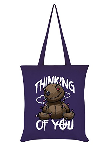 Borsa Tote Thinking Of You 38 x 42 cm in viola