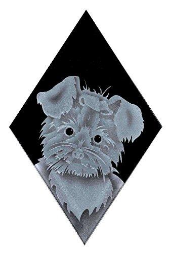 Carved Glass Shih Tzu Dog Decorative Sun Catcher
