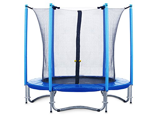 FA-Sports-Trampoline-Fly-Jump-Medium-Monster-Gartentrampolin-mit-Sicherheitsnetz-244-cm-BlauSchwarz-2522