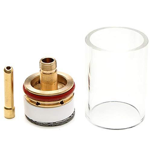 Binchil Kit de Boquilla de Champ/áN de Copa de Vidrio con Antorcha de Soldadura TIG de 5 Piezas para WP17 18//26 3//32 Pulgadas Conjunto de Aislador de Lente de Collar de 2,4 Mm
