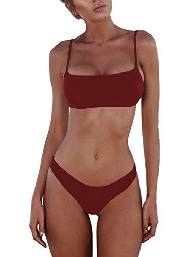 Burgundy Bikini Set in Australia - 3