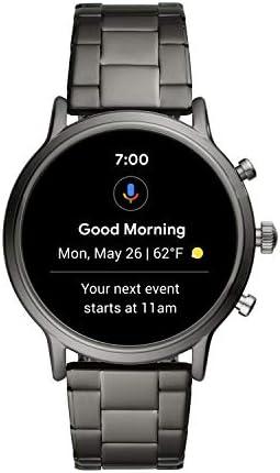 Fossil Gen 5 Carlyle Reloj inteligente con pantalla táctil de acero inoxidable con altavoz, frecuencia cardíaca, GPS, NFC y notificaciones de smartphone 7