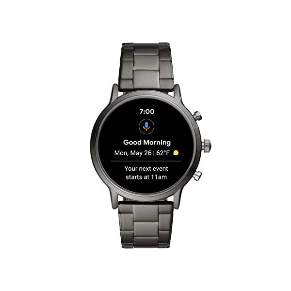 Fossil Gen 5 Carlyle Stainless Steel Touchscreen Smartwatch with Speaker, Heart Rate, GPS, Contactless Payments, and… 5