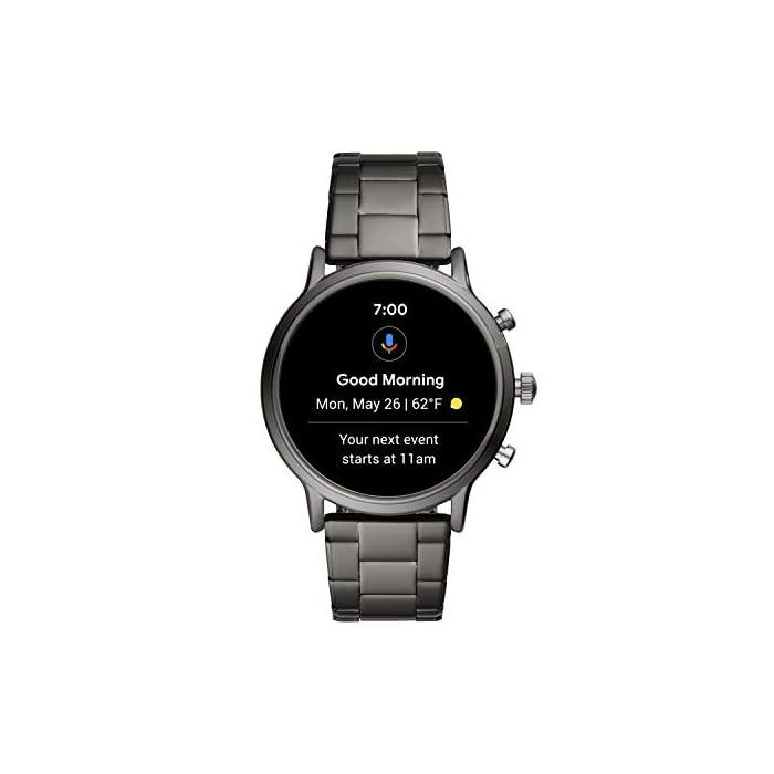 41j4kCgFmTL Los smartwatches que funcionan con la tecnología WearOS by Google funcionan con teléfonos iPhoneⓇ¹ y Android Funciona varios días con una única carga en modo de batería ampliada. Seguimiento de actividad y frecuencia cardíaca, GPS incorporado para seguimiento de distancias, diseño apto para nadar