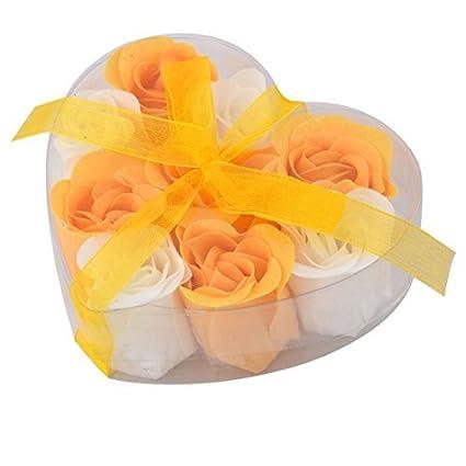 eDealMax cumpleaños del brote de Flor de la Cinta en Forma de decoración pétalo del jabón