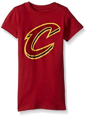- NBA Girls 7-16 Cleveland Cavaliers Primary Logo Short Sleeve Tee-Garnet-S(7-8)