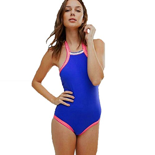 Kinghard Women One-piece Swimsuit Bikini Manual Crochet Sandy Beach Swimwear (S)