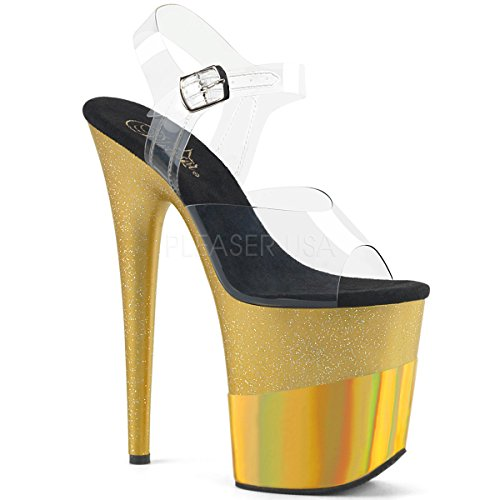 Exotic Ankle Strap - Pleaser Women's Flamingo-808-2HGM Ankle-Strap Sandal