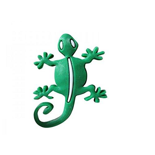 Pin's pour sabot plastique compatible crocs - Pin'zz Schuzz gecko vert Schu' zz