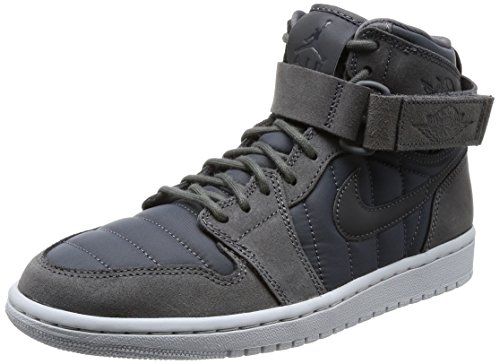 Men's Air Jordan 1 High Strap GreyPure Platinum/Anthracite (9 D(M) US) by NIKE