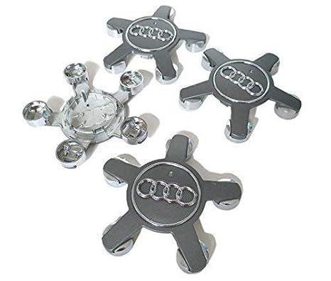 Set de tapas de llantas de aluminio Audi original accesorio embellecedor tunning tapa cubierta: Amazon.es: Coche y moto