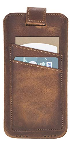 Solo Pelle Apple iPhone X/XS Leather Multi Carrying Case in Camel Brown Made Genuine Leather. Premium Accessory The Original Apple iPhone Xs/X