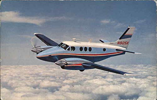The Beechcraft Turbooprop, Pressurized King Air Aircraft Original Vintage Postcard from CardCow Vintage Postcards