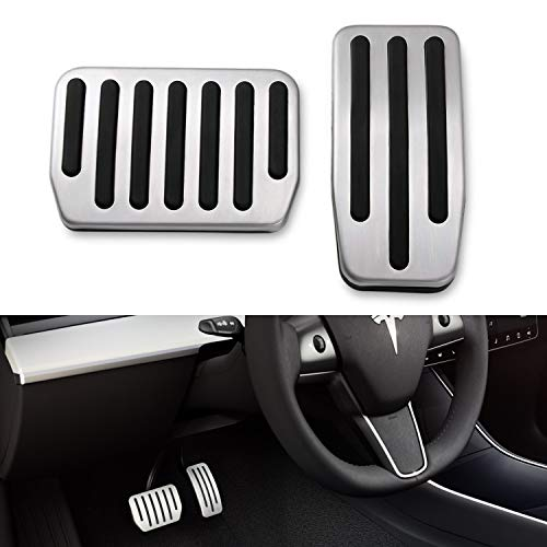 BASENOR Model 3 Performance Pedal Set, Auto Aluminum Foot Pedal Pads Pedal Covers for Tesla Model 3