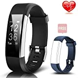 Fitness Tracker, Fitness Watch with Heart Rate Monitor Waterproof Bluetooth Pedometer Wristband Sleep
