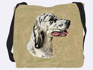 English Setter Tapestry (English Setter Tote Bag - 17 x 17 Tote Bag)