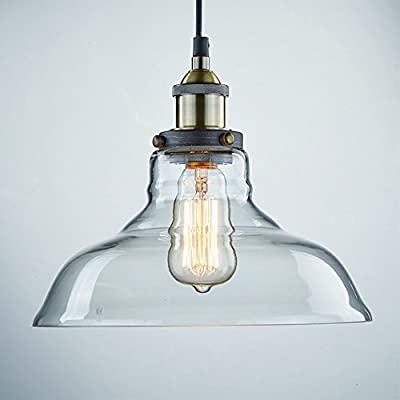 Truelite Industrial Edison Vintage Style Pendant Glass Hanging Light