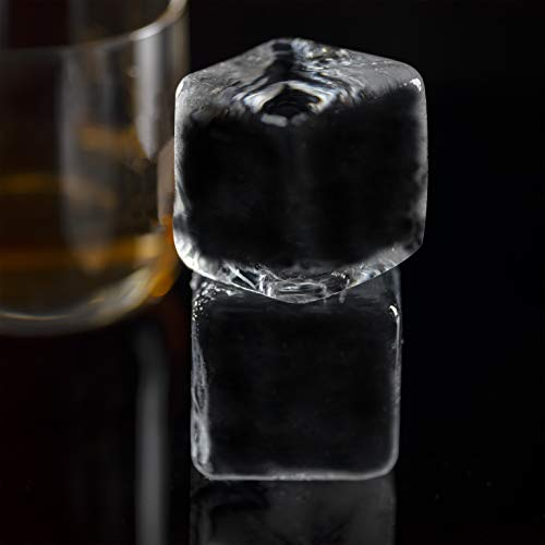 Crystal-Clear Square Ice Cube Maker, 2-Cavity Mold, Jumbo Ice Cube Squares, Better Kitchen Products