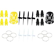 Estes Proto-X [QTY: 1] Nano Body Shell H111-01 Black Quadcopter Frame w/ Motor supports [QTY: 1] Yellow [QTY: 2] Protection Cover Guard Propeller Protector Trainer White H111-10 [QTY: 1] All blade Set
