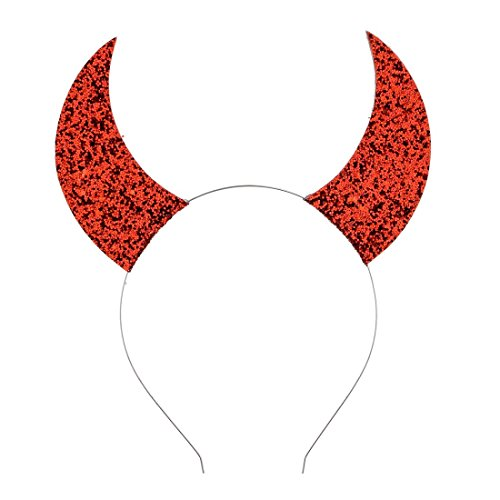 Daisyu Girls Devil Horn Halloween Headband Costume Cat Ear Headband (Red)