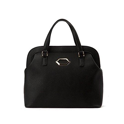 LEODIKA La Mujer, bolsos, coreano edición, La Mujer Singles hombro oblicuo, bolsos, bolsos, Big Bags, Nuevo casual Negro. Black