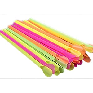 Funnytoday365 Useful 100Pcs Jumbo Spoon Straws Drinking Straw Bar Pub Slush Puppies Straw