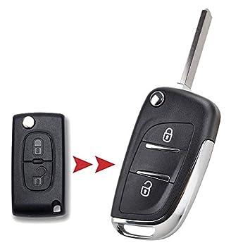 XUKEY CE0536 - Carcasa para Mando a Distancia para Peugeot 308 207 307 3008 807 Expert Partner para Citroen C2 C3 C4 Picasso Key Reparación: Amazon.es: ...