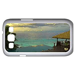 Villa in Seycheles (Houses Series) Watercolor style - Case Cover For Samsung Galaxy S3 i9300 (White)