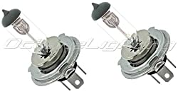"Octane Lighting 7x6"" Headlights Headlamp Halogen H4 Replacement Bulbs Clear 6055w Pair 9003"