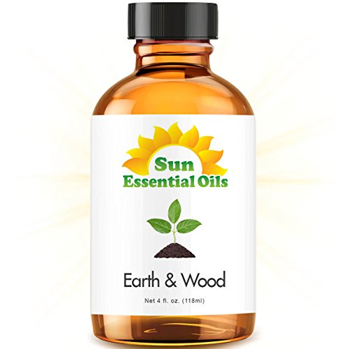 Earth & Wood Blend - Large 4 Ounce Best Essential Oil (Cardamom, Cedarleaf, Cedarwood, Fir Needle, Patchouli and Sandalwood)