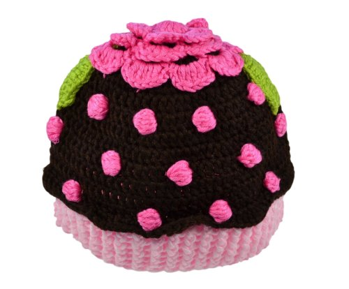Funny Girl Designs Cupcake Crochet Winter Hat (1-3 Years, Brown)