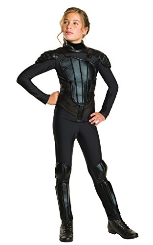 Rubie's Costume Rebel Mockingjay Part 1 The Hunger Games Deluxe Katniss Costume, Medium, One (Katniss Costumes Kids)
