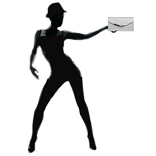 Surface Bag Textured Envelope TA370 Evening with Clutch Silver Elegant Ladies CASPAR 4Zq6wUzA