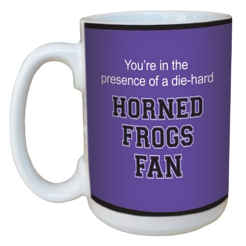 Tree-Free Greetings lm44903 Horned Frogs College Basketball Ceramic Mug with Full-Sized Handle, 15-Ounce