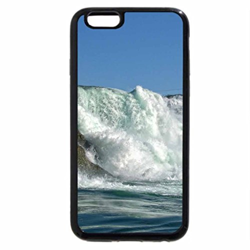 iPhone 6S / iPhone 6 Case (Black) overlook of a powerful waterfall