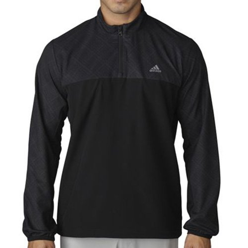 adidas Golf Men's Performance Stretch 1/2 Wind Jacket Carbon/Black Outerwear 2XL by adidas