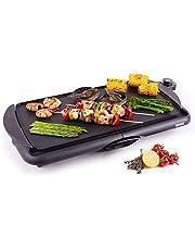 Duronic GP20 Elektrische grill   2000 W Anti-aanbak Teppanyaki bakplaat   52 x 27 cm   Gourmet grill   Vetopvangsysteem   Eenvoudige Schoonmaak   Verstelbare Temperatuur   Binnen BBQ   Tafelgrill